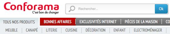 Baseline conformama.fr